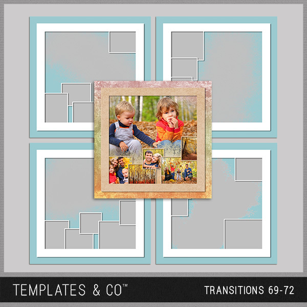 Transitions 69-72 Digital Art - Digital Scrapbooking Kits