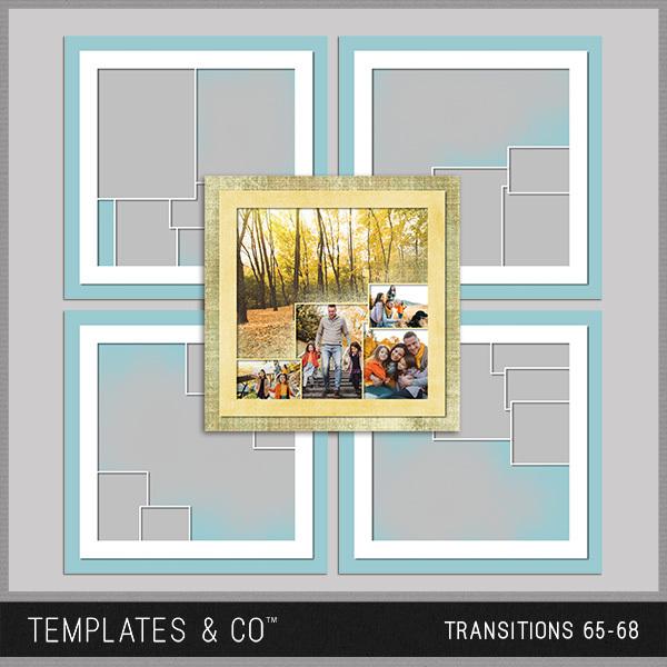 Transitions 65-68 Digital Art - Digital Scrapbooking Kits