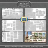 Artistic License Crayoned Grids - Seamless Layflat Bonus Bundle