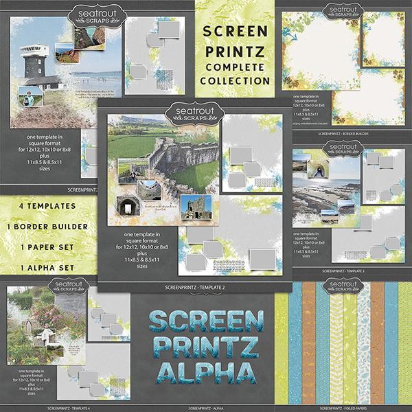 Screenprintz - Complete Collection Digital Art - Digital Scrapbooking Kits