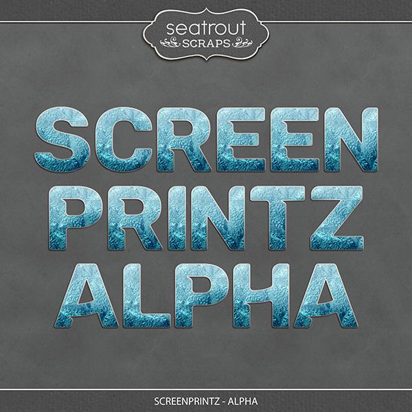 Screenprintz - Alpha Digital Art - Digital Scrapbooking Kits