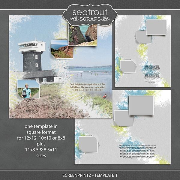 Screenprintz - Template 1 Digital Art - Digital Scrapbooking Kits