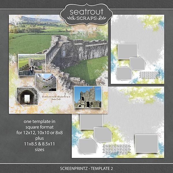 Screenprintz - Template 2 Digital Art - Digital Scrapbooking Kits