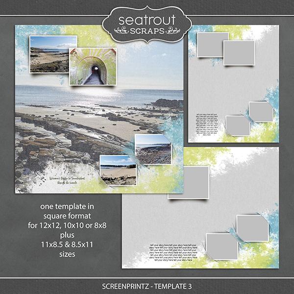 Screenprintz - Template 3 Digital Art - Digital Scrapbooking Kits