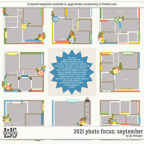 2021 Photo Focus - September Digital Art - Digital Scrapbooking Kits