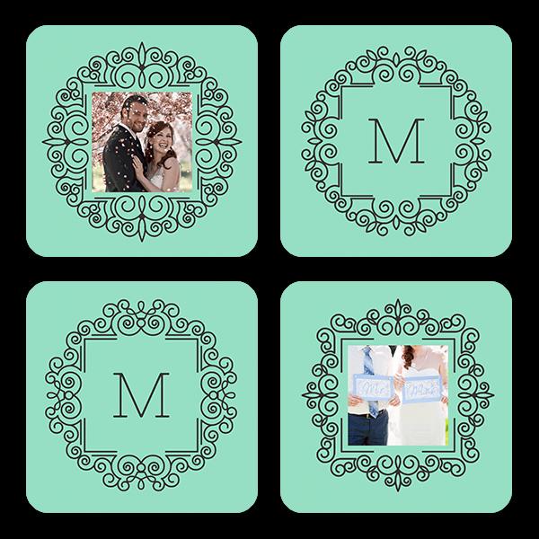 Monogram & Mint Coasters Coaster Set