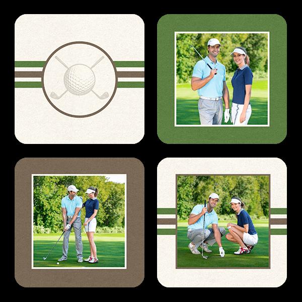 Golf Stripes Coasters Coaster Set