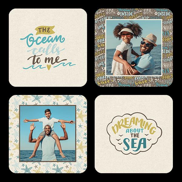 By the Sea Coasters Coaster Set