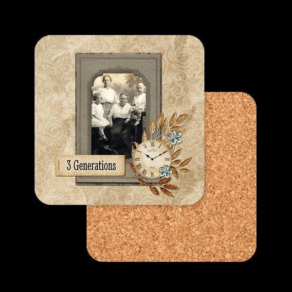 Vintage Family Memories Coasters