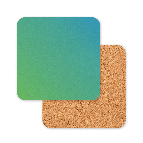 Blue Green Ombre Coasters