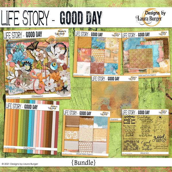 Life Story - Good Day Bundle Digital Art - Digital Scrapbooking Kits