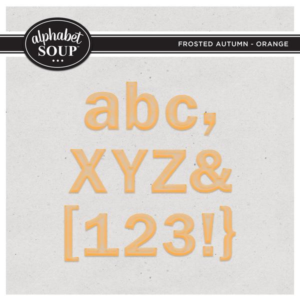 Frosted Autumn Collection - Orange Digital Art - Digital Scrapbooking Kits