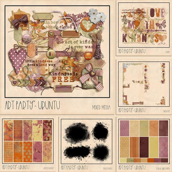 Ubuntu Complete Collection Digital Art - Digital Scrapbooking Kits