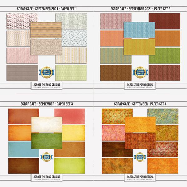 Scrap Cafe - September 2021 - Bundle Digital Art - Digital Scrapbooking Kits