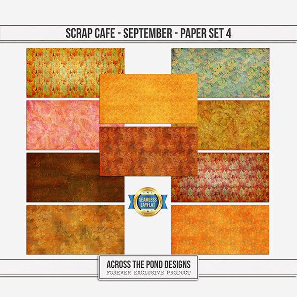 Scrap Cafe - September 2021 - Paper Set 4
