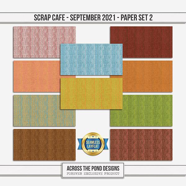 Scrap Cafe - September 2021 - Paper Set 2