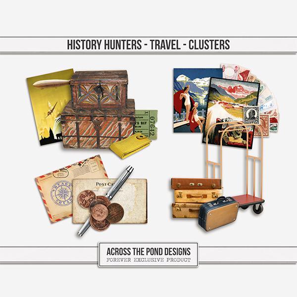 History Hunters - Travel - Clusters Digital Art - Digital Scrapbooking Kits