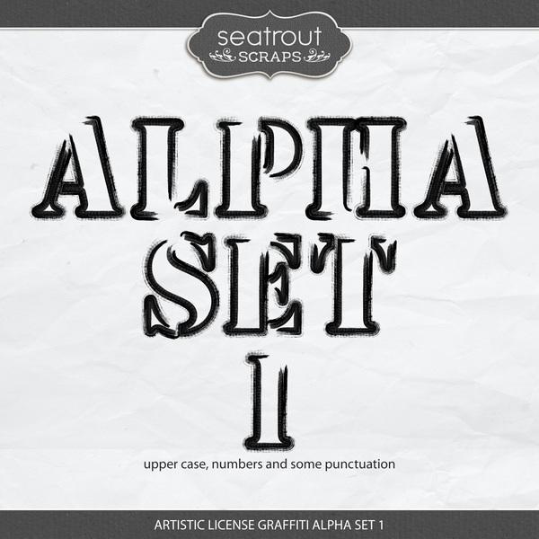 Artistic License Graffiti Alpha Set 1