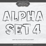 Artistic License Graffiti Alpha Set 4
