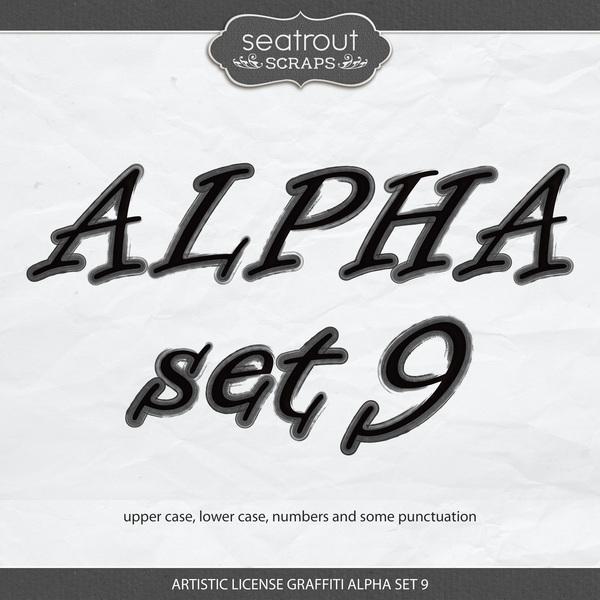 Artistic License Graffiti Alpha Set 9 Digital Art - Digital Scrapbooking Kits