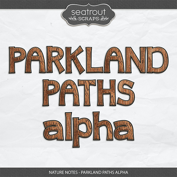 Nature Notes - Parkland Paths Alpha Digital Art - Digital Scrapbooking Kits
