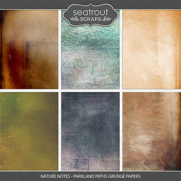 Nature Notes - Parkland Paths Grunge Papers Digital Art - Digital Scrapbooking Kits