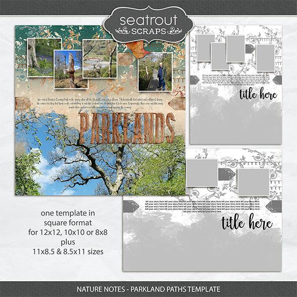 Nature Notes - Parkland Paths Template Digital Art - Digital Scrapbooking Kits