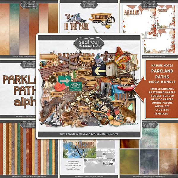 Nature Notes - Parkland Paths Mega Bundle Digital Art - Digital Scrapbooking Kits