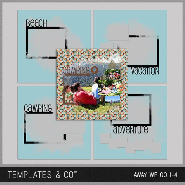 Away We Go 1-4 Digital Art - Digital Scrapbooking Kits