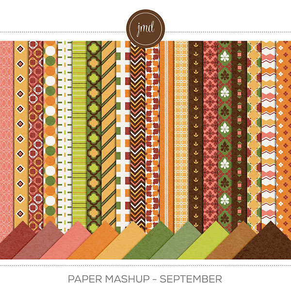 Paper Mashup - September Digital Art - Digital Scrapbooking Kits
