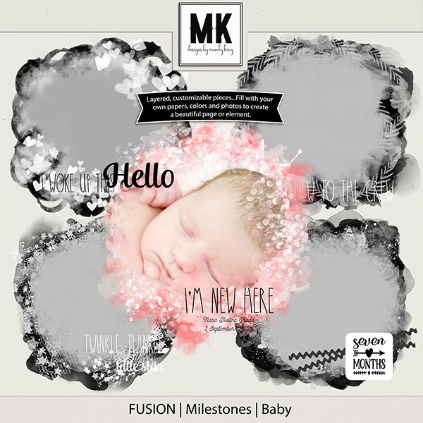 Fusion - Milestones - Baby Digital Art - Digital Scrapbooking Kits