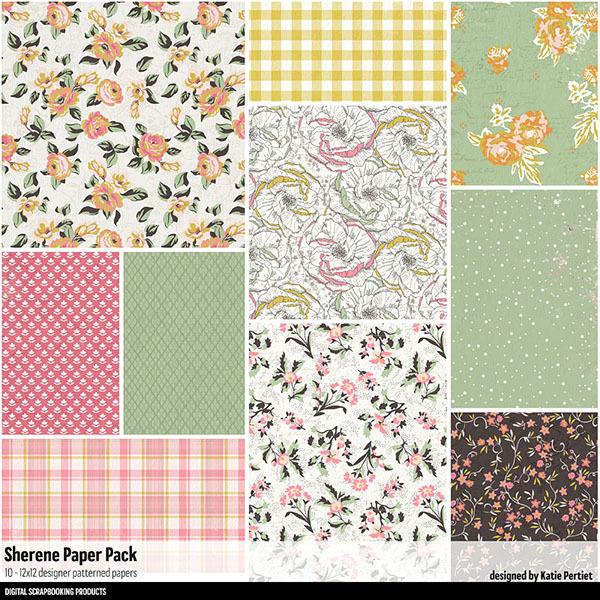 Sherene Paper Pack Digital Art - Digital Scrapbooking Kits