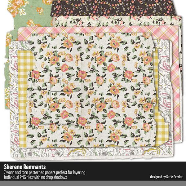 Sherene Remnants Digital Art - Digital Scrapbooking Kits