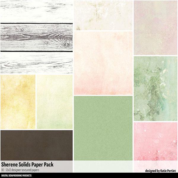 Sherene Solids Paper Pack Digital Art - Digital Scrapbooking Kits