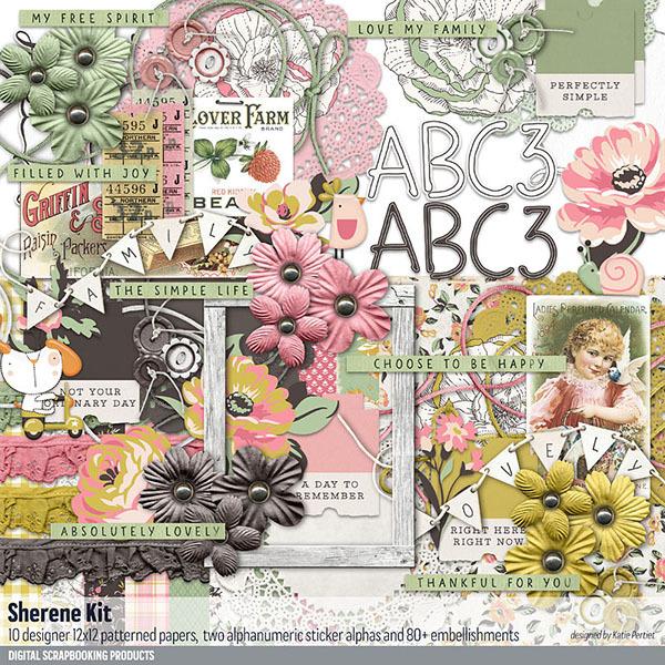 Sherene Scrapbook Kit Digital Art - Digital Scrapbooking Kits