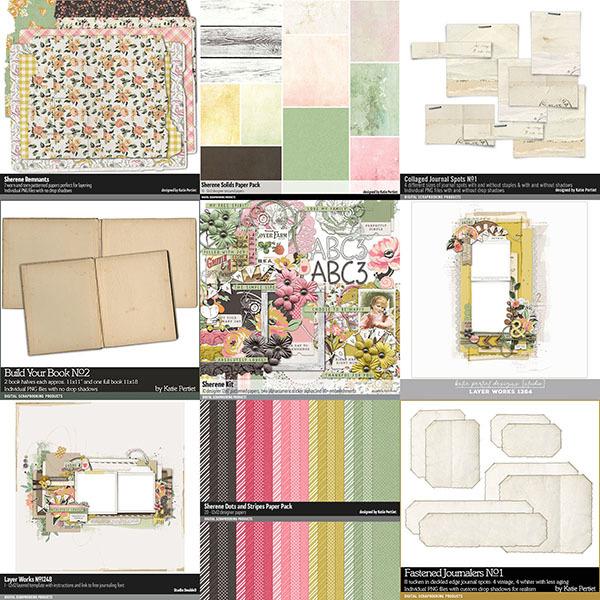 Sherene Scrapbooking Bundle Digital Art - Digital Scrapbooking Kits