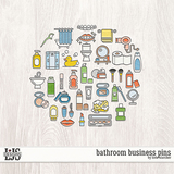 Bathroom Business Pins