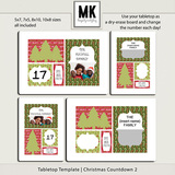 Tabletop Template - Christmas Countdown 2