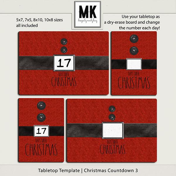 Tabletop Template - Christmas Countdown 3
