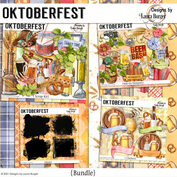 Oktoberfest Bundle Digital Art - Digital Scrapbooking Kits