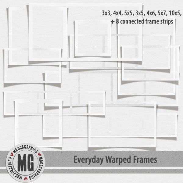 Everyday Warped Frames Digital Art - Digital Scrapbooking Kits