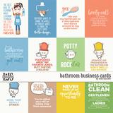 Bathroom Business Cards