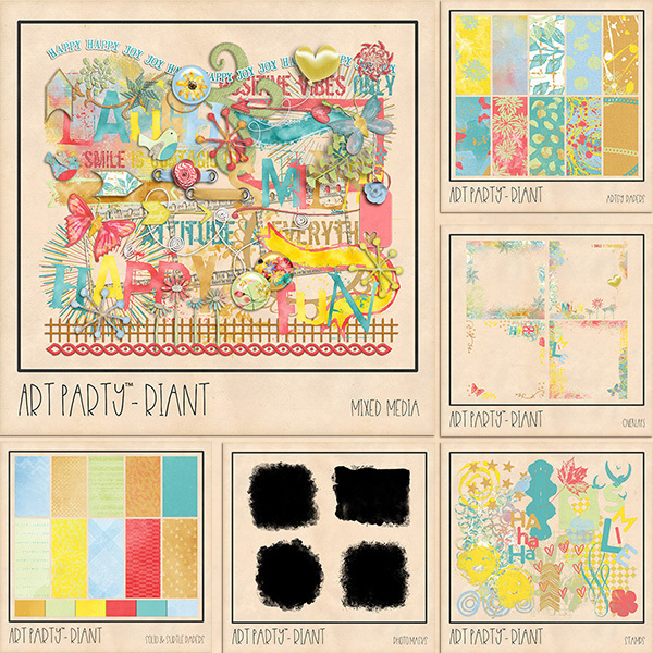 Riant Complete Collection Digital Art - Digital Scrapbooking Kits