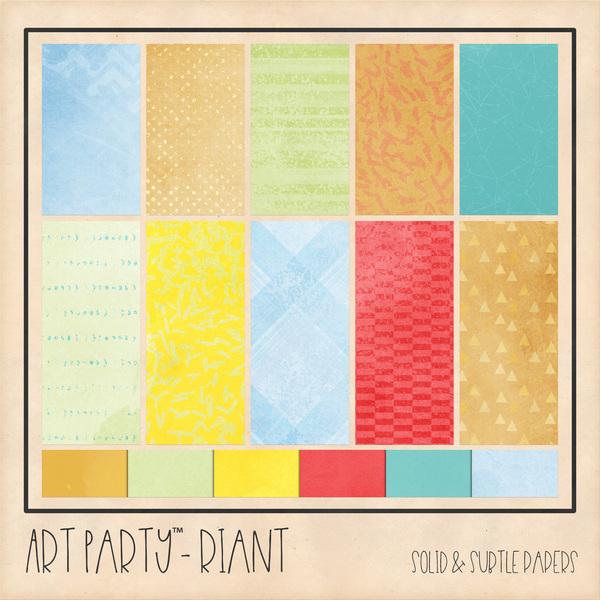Riant Solid & Subtle Papers Digital Art - Digital Scrapbooking Kits