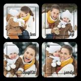 Family Framed Black Pre-Designed Coasters