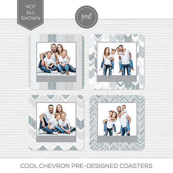 Cool Chevron Pre-Designed Coasters Digital Art - Digital Scrapbooking Kits
