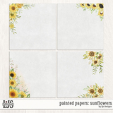 Painted Papers - Sunflowers