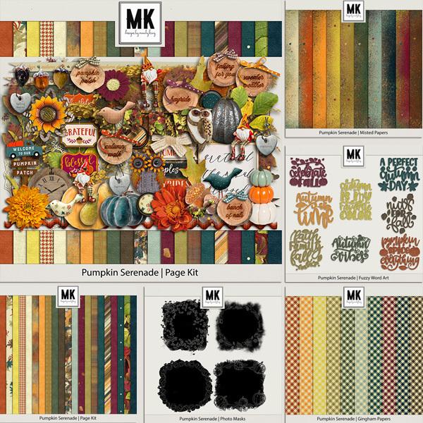 Pumpkin Serenade Bundle Digital Art - Digital Scrapbooking Kits