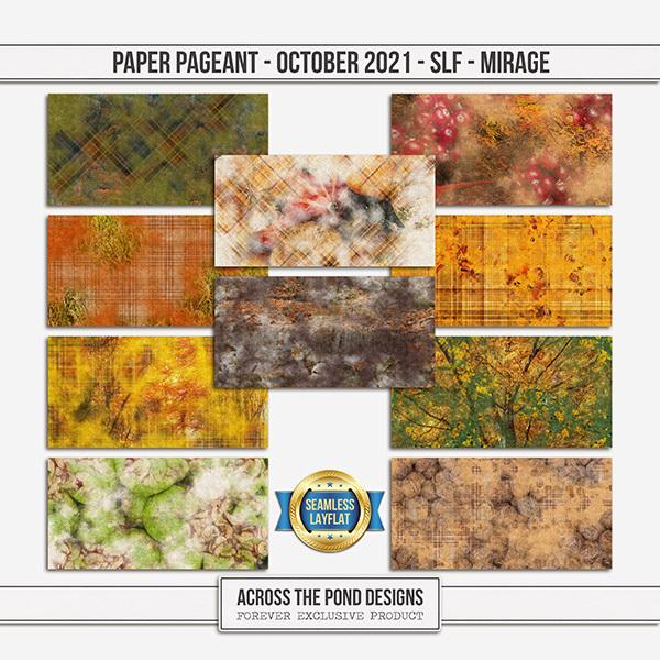 Paper Pageant - October 2021 - SLF - Mirage Digital Art - Digital Scrapbooking Kits