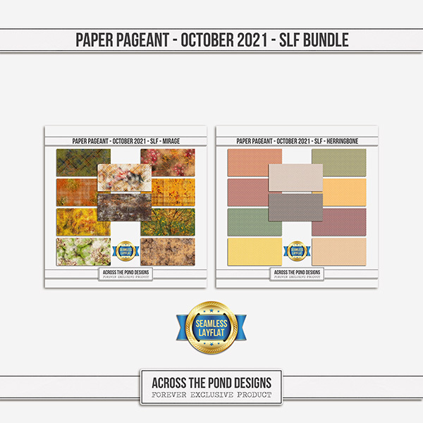 Paper Pageant - October 2021 - SLF - Bundle Digital Art - Digital Scrapbooking Kits